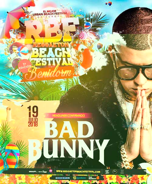 Cartel Reggaeron Beach Festival Benidorm 2018