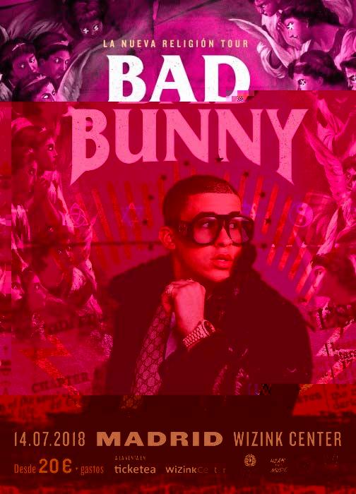 Cartel concierto Bad Bunny Madrid 2018