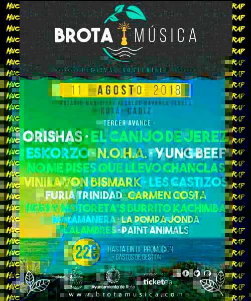 Cartel Brota Música festival en Cádiz