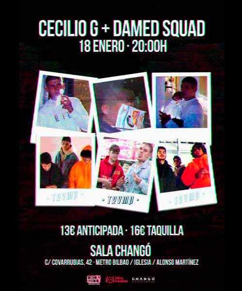 Cecilio G y Damed Squad en concierto