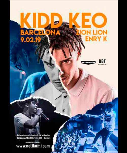 Kidd Keo en concierto en Barcelona en Razzmatazz