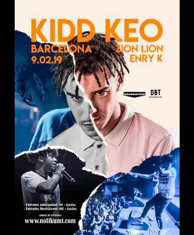 Concierto de Kidd Keo en Barcelona, Razzmatazz