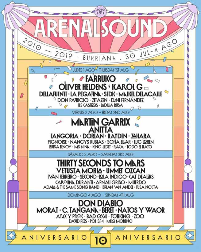 Cartel Festival Arenal Sound 2019