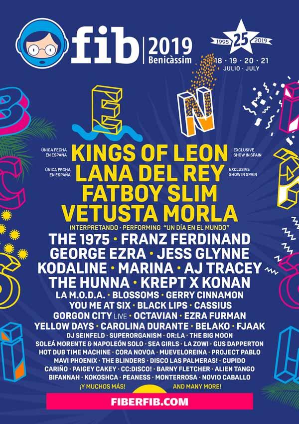 Cartel Festival Internacional de Benicassim 2019 Valencia