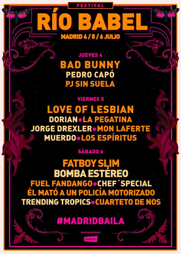 Cartel Festival Río Babel 2019 Madrid