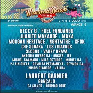 Weekend Beach Festival 2019 Málaga