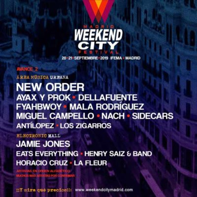 Cartel Weekend City Madrid Festival 2019 Madrid