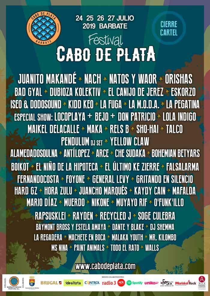 Cabo de plata 2019