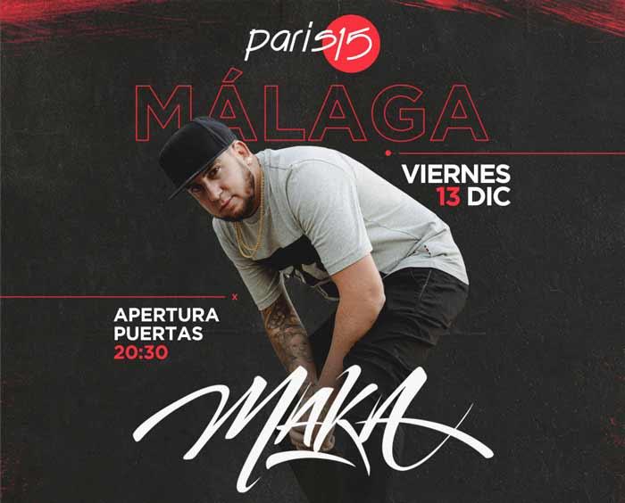 Maka en concierto en Málaga