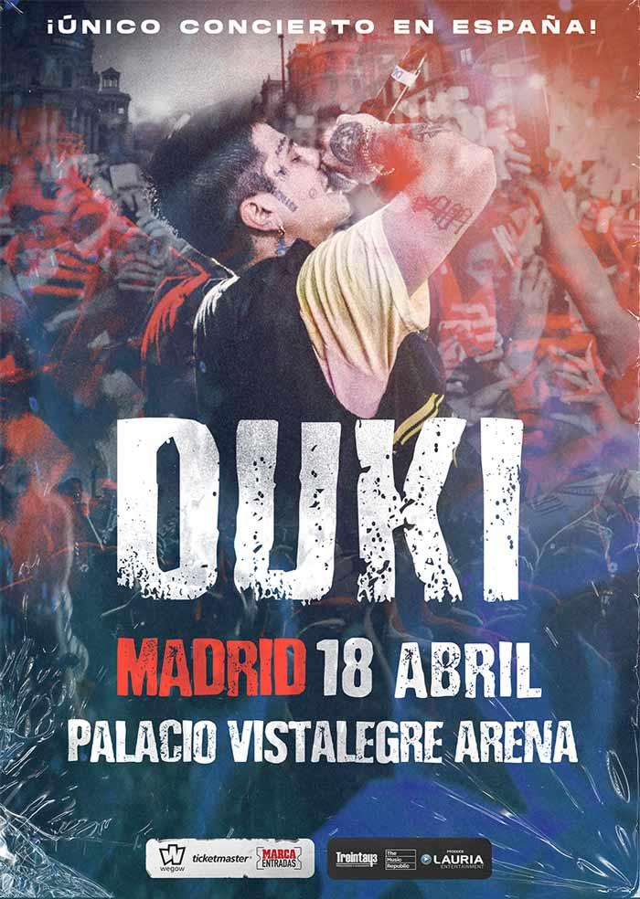 Duki concierto en Madrid