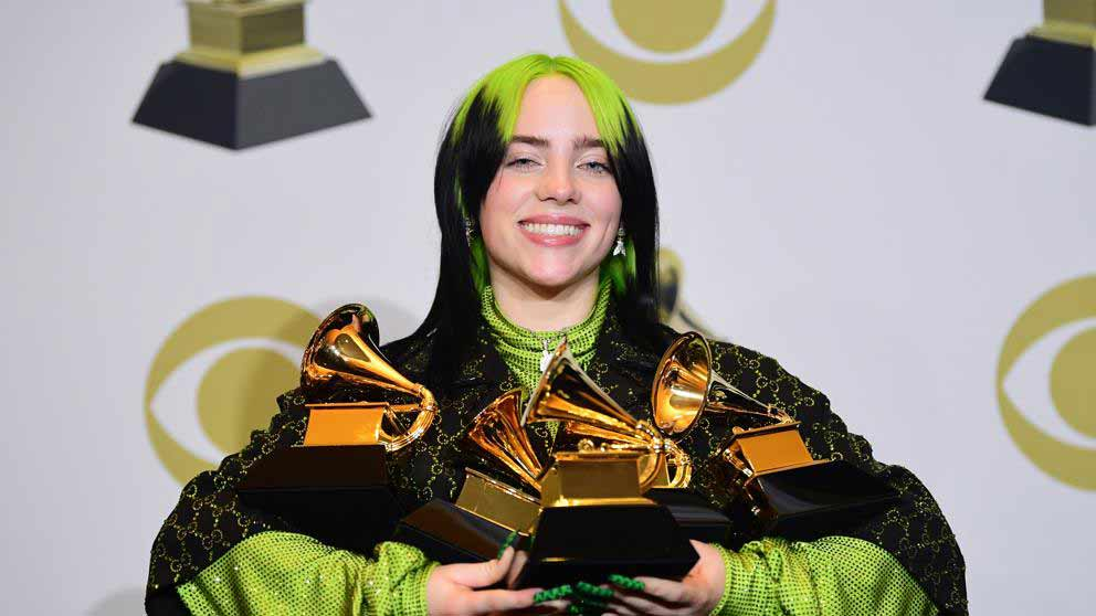 Billie Ellish 5 Grammys