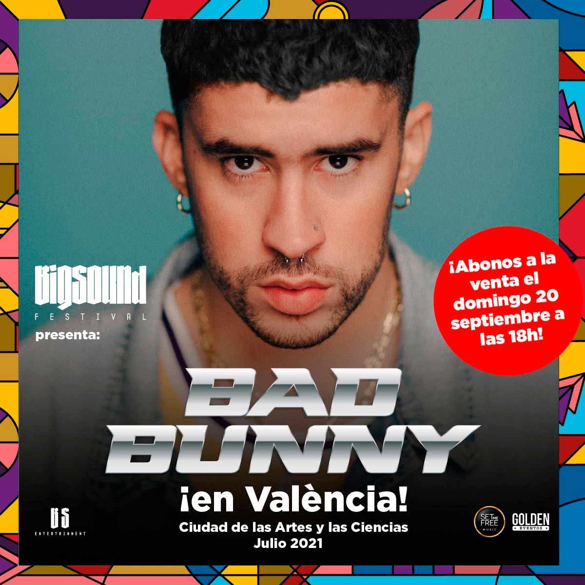 BAD BUNNY estará en el gran festival de música urbana BIG SOUND este 2021.